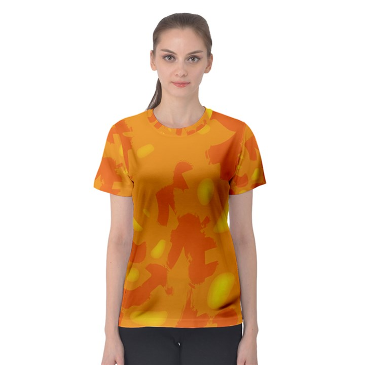 Orange decor Women s Sport Mesh Tee