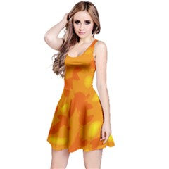 Orange Decor Reversible Sleeveless Dress
