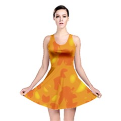 Orange decor Reversible Skater Dress