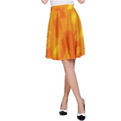 Orange Decor A Line Skirt