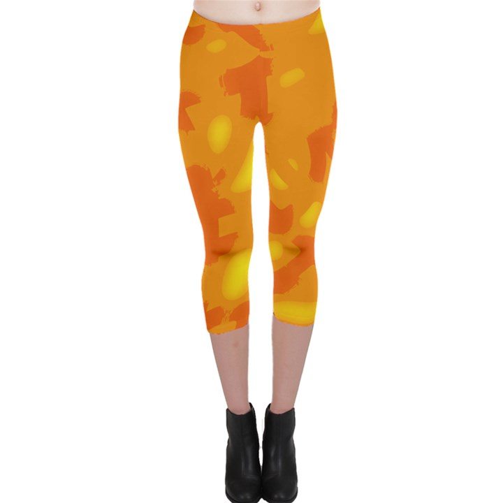 Orange decor Capri Leggings