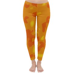 Orange decor Winter Leggings