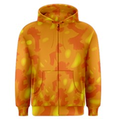 Orange Decor Men s Zipper Hoodie