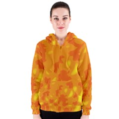 Orange decor Women s Zipper Hoodie