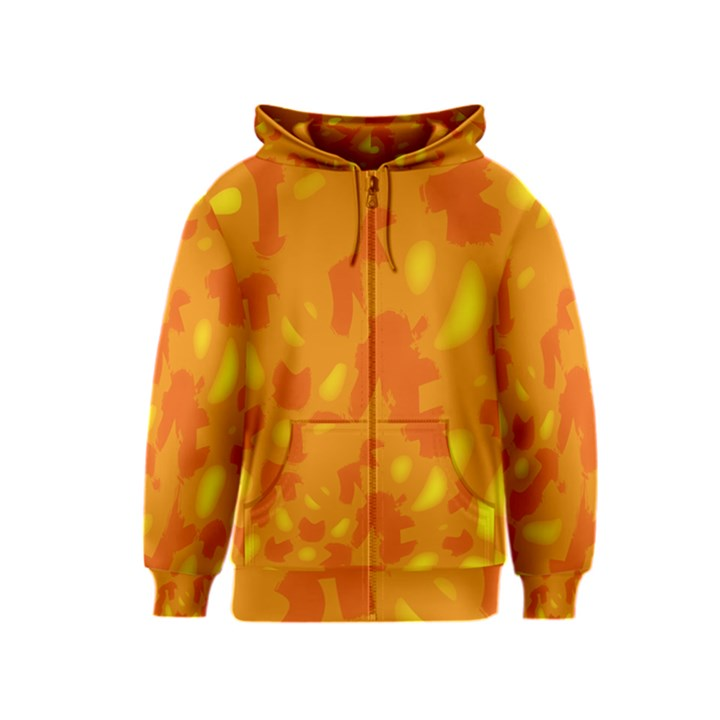 Orange decor Kids  Zipper Hoodie
