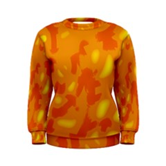 Orange decor Women s Sweatshirt