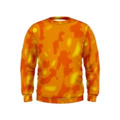 Orange Decor Kids  Sweatshirt
