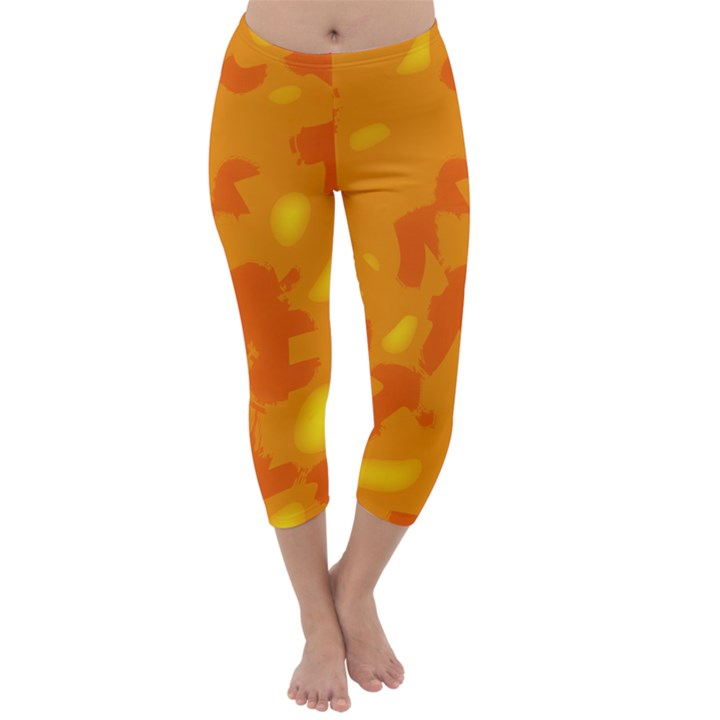 Orange decor Capri Winter Leggings