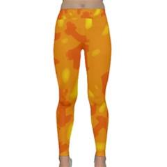 Orange Decor Yoga Leggings