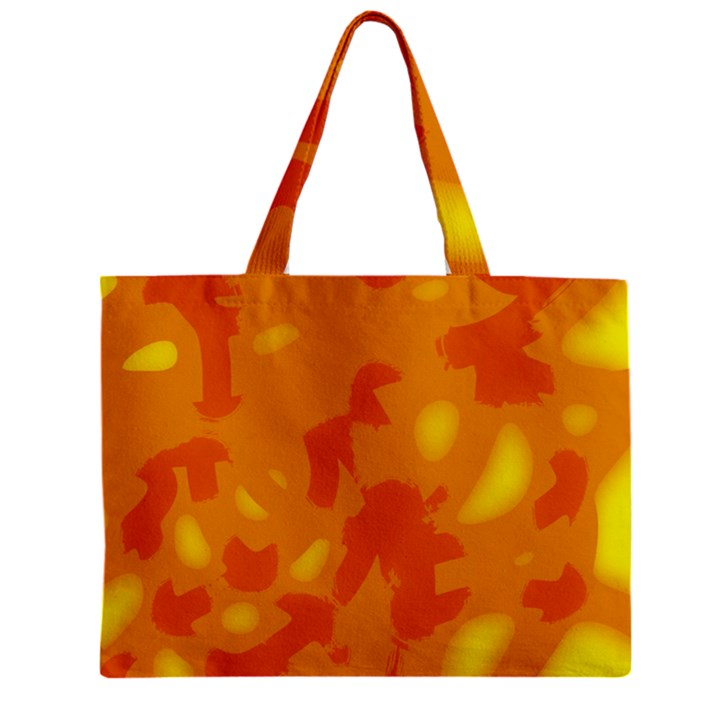 Orange decor Zipper Mini Tote Bag