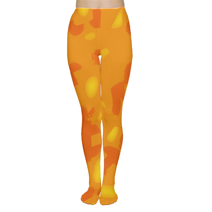 Orange decor Women s Tights