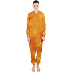 Orange decor Hooded Jumpsuit (Ladies)