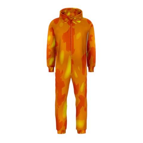 Orange decor Hooded Jumpsuit (Kids)