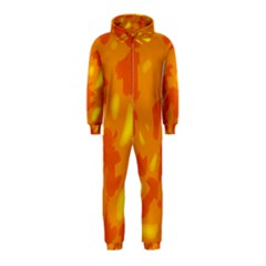 Orange decor Hooded Jumpsuit (Kids)