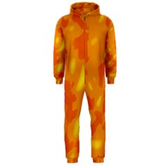 Orange decor Hooded Jumpsuit (Men)