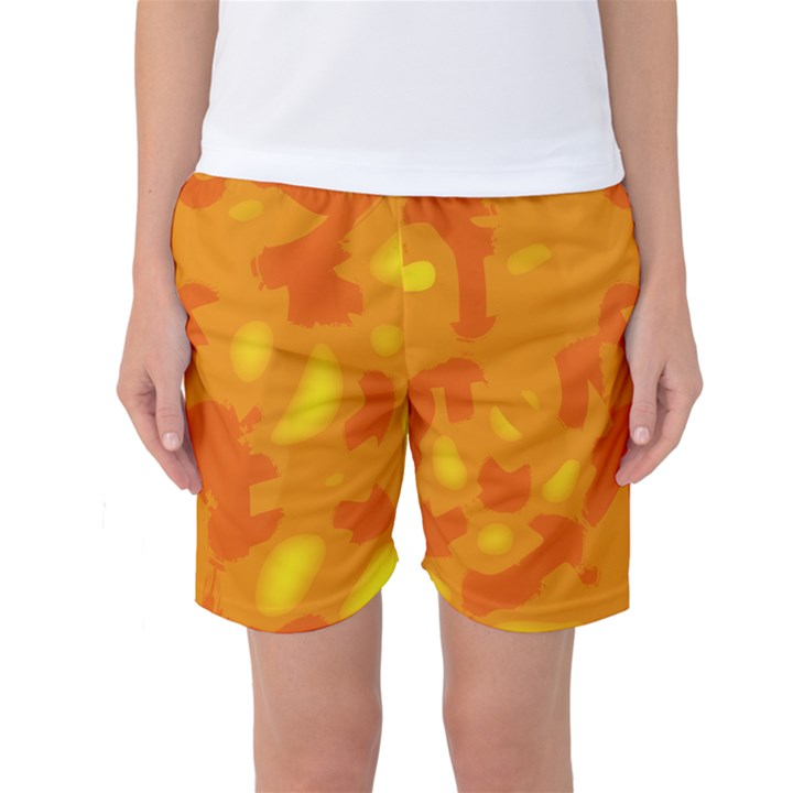 Orange decor Women s Basketball Shorts