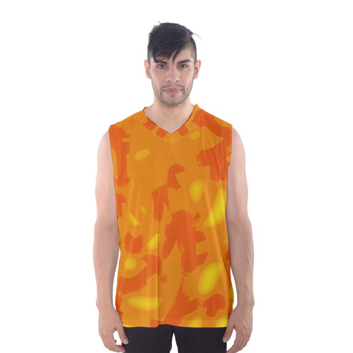 Orange decor Men s Basketball Tank Top