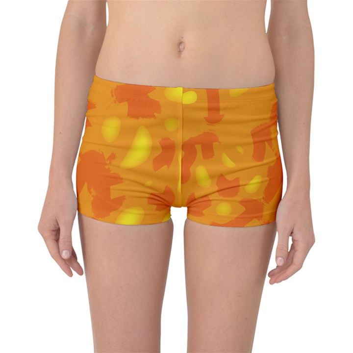Orange decor Boyleg Bikini Bottoms