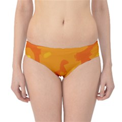 Orange Decor Hipster Bikini Bottoms