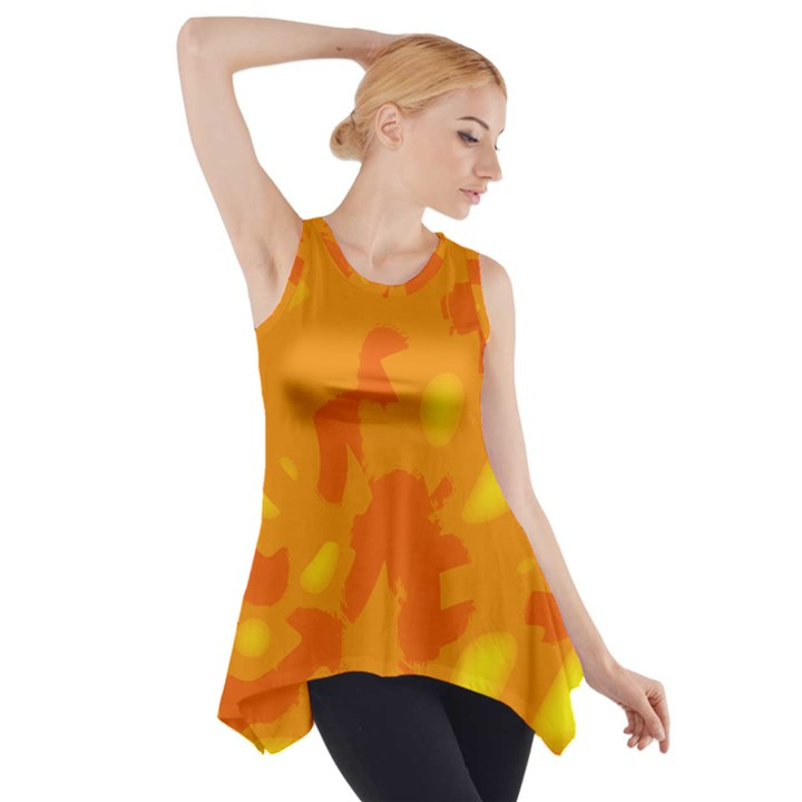 Orange decor Side Drop Tank Tunic