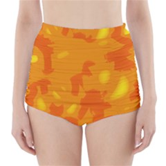 Orange decor High-Waisted Bikini Bottoms