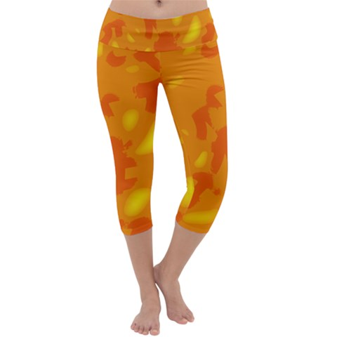 Orange decor Capri Yoga Leggings