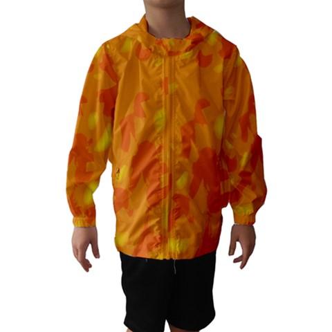 Orange decor Hooded Wind Breaker (Kids)