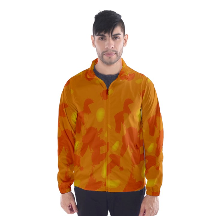 Orange decor Wind Breaker (Men)