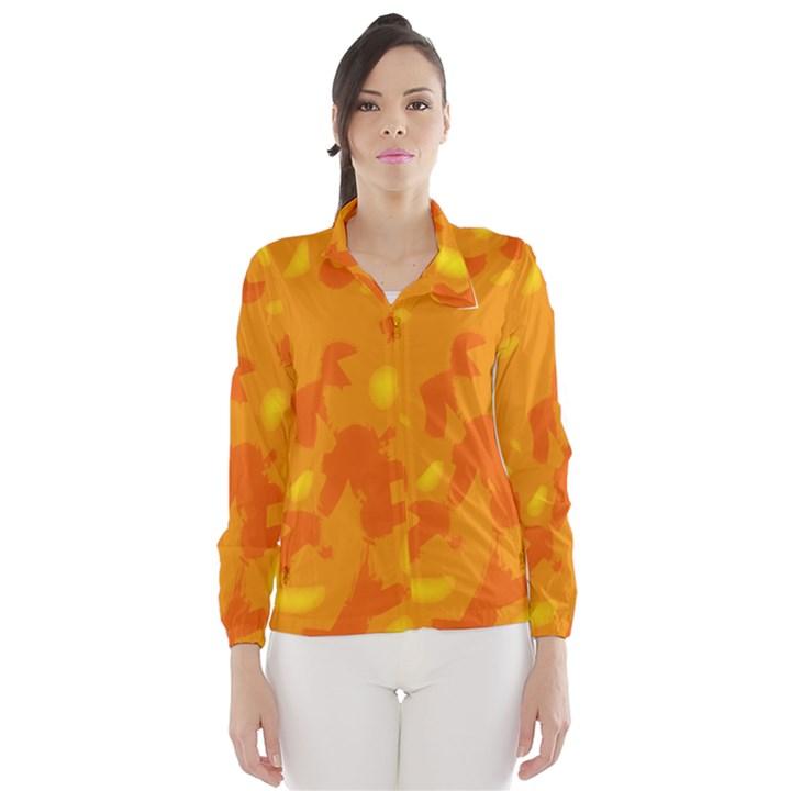 Orange decor Wind Breaker (Women)