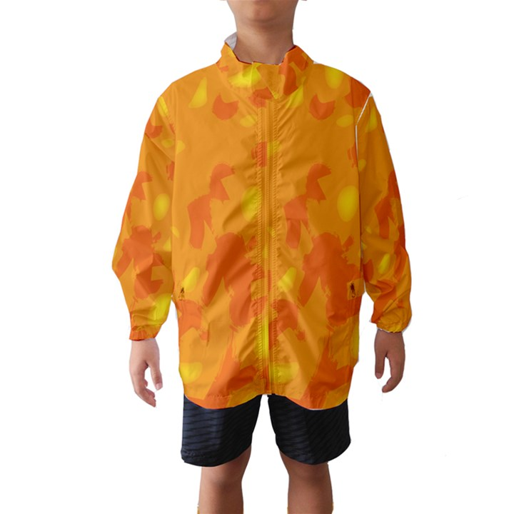 Orange decor Wind Breaker (Kids)