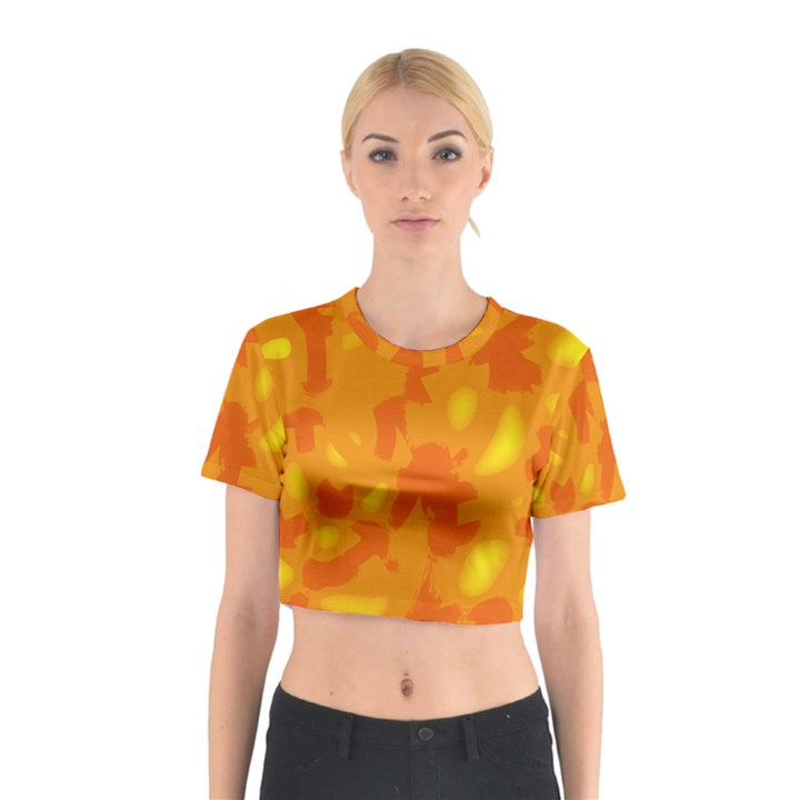 Orange decor Cotton Crop Top