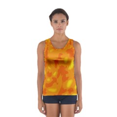 Orange decor Women s Sport Tank Top