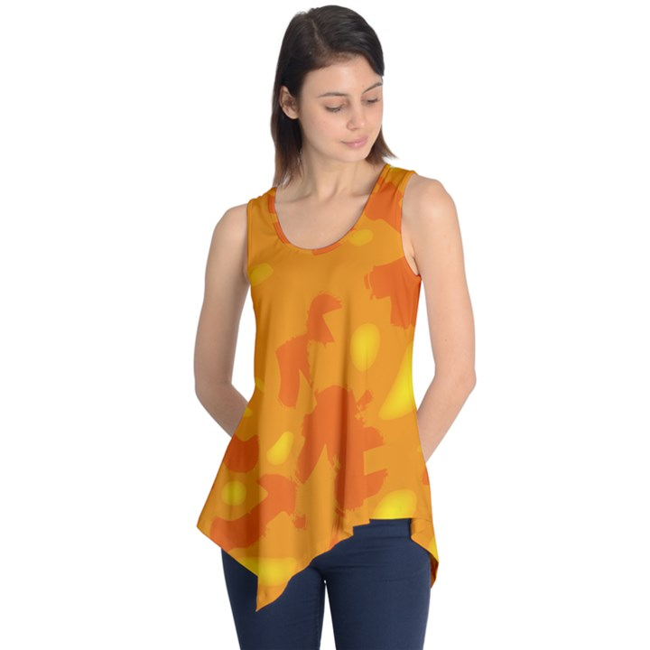 Orange decor Sleeveless Tunic