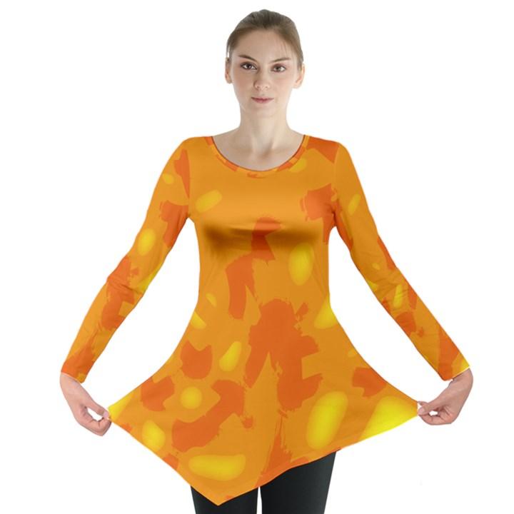 Orange decor Long Sleeve Tunic