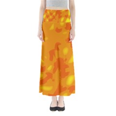 Orange decor Maxi Skirts