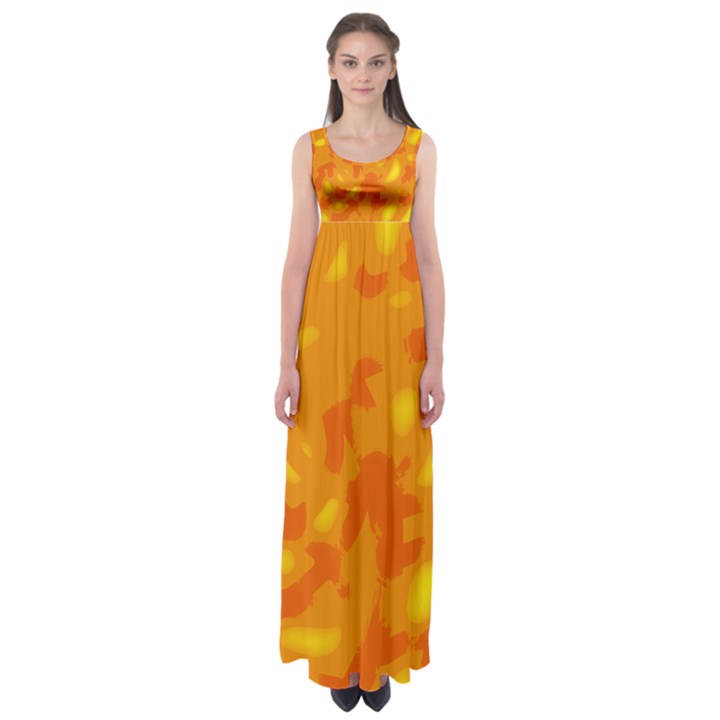Orange decor Empire Waist Maxi Dress