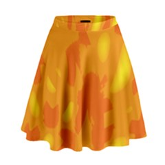 Orange decor High Waist Skirt