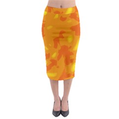 Orange decor Midi Pencil Skirt