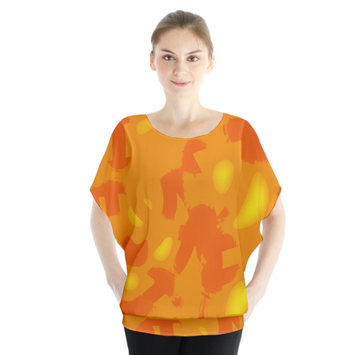 Orange decor Blouse