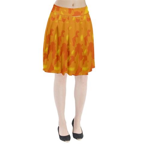 Orange decor Pleated Skirt