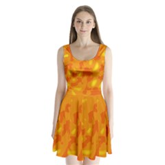 Orange Decor Split Back Mini Dress