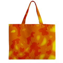 Orange decor Medium Zipper Tote Bag