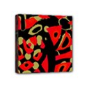 Red artistic design Mini Canvas 4  x 4  View1
