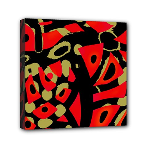 Red artistic design Mini Canvas 6  x 6