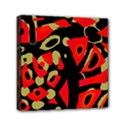 Red artistic design Mini Canvas 6  x 6  View1