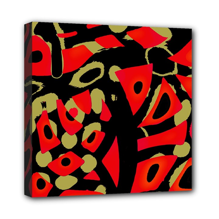 Red artistic design Mini Canvas 8  x 8