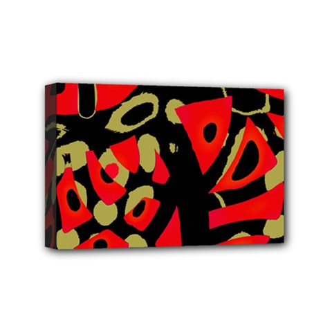 Red Artistic Design Mini Canvas 6  X 4