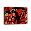 Red artistic design Mini Canvas 7  x 5  View1
