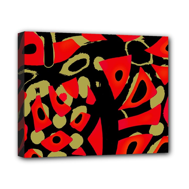 Red artistic design Canvas 10  x 8