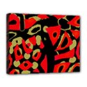 Red artistic design Canvas 14  x 11  View1